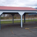 Carport with Red Roof
