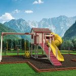 Playset in Mountainous Landscape