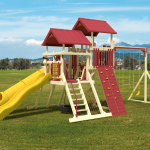 Playset with Climbing Wall